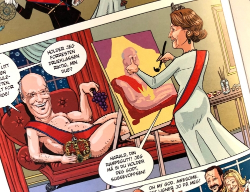 – Ondsinnet å tegne kongen naken